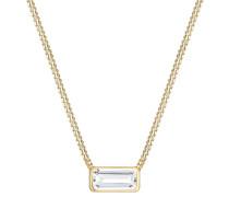 Halskette Rechteck Geo Topas Edelstein 925 Sterling Silber