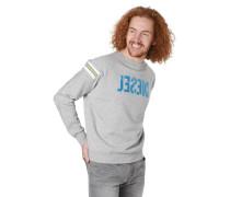 Sweatshirt, Marken-Print, Streifen-Details