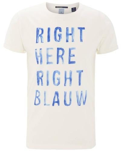 T-Shirt, Schrift-Print, Baumwolle, Rundhalsausschnitt