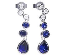 Cluster-Ohrringe  mit weißen und blauen -Zirkonia 6220451100