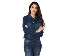 Jeansjacke, Zier-Nähte, leichte Waschung, Brusttaschen