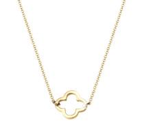 Halskette Kleeblatt Glücksbringer Filigran Trend Silber