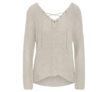Pullover, Schnürung, V-Ausschnitt