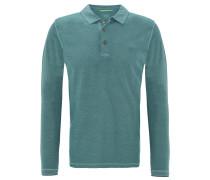 Poloshirt, kontrastfarbene Nähte, Knopfleiste