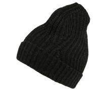 Mütze, Ripp-Strick, Umschlag, Woll-Anteil
