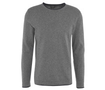 Pullover, Baumwolle, Kontrast-Saum