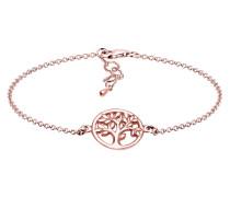 Armband Lebensbaum Kreis Blatt Floral 925 Sterling Silber