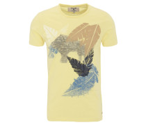 T-Shirt, Baumwolle, Front-Print, Stickerei