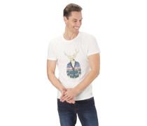 T-Shirt, Motiv-Print, Rundhalsausschnitt