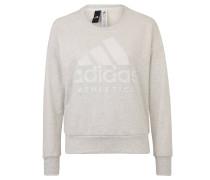 Sweatshirt, meliert, Logo-Print, Rundhals