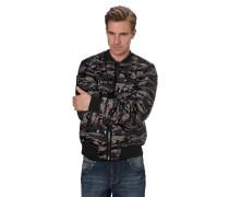 Steppjacke, wasserabweisend, Camouflage-Muster