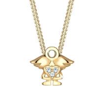 Halskette Kinder Engel Swarovski® Kristalle 925 Silber