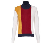 Pullover, Zopfmuster, Colour-Blocking