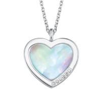 Damen-Halskette mit Perlmutt-Herz