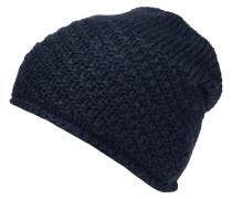 Mütze, Strick, Woll-Anteil, Rollsaum, Fleecefutter