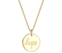 Halskette Hope Schriftzug Wording 925 Sterling Silber