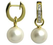 Diamant-Ohrringe Gold 585 11,0mm, zus. ca. 0