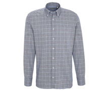 Freizeithemd, Regular Fit, kariert, Button-Down-Kragen