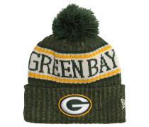 Green Bay Packers Strickmütze, Fleece innen, Bommel