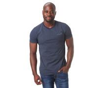 T-Shirt, geometrischer Allover-Print, gummierter Print