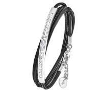 Wickel-Armband 2018783, mit Swarovski Kristallen