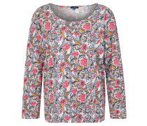 Langarmshirt, floraler Print, Baumwolle