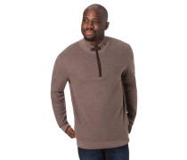 Pullover, Reißverschluss, Stehkragen, Ellbogen-Patches