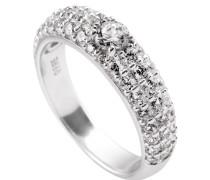 Ring  mit weißem -Zirkonia und weißen Zirkonia-Steinen ct 1