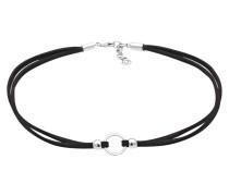 Halskette Trend Choker Kreis Band  925 Silber