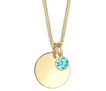 Halskette Geburtsstein Farbe Swarovski® Kristalle 925 Silber