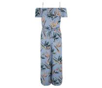 Jumpsuit, 7/8-Länge, Off-Shoulder, Tropical-Print