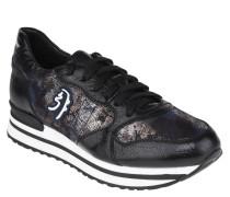 Sneaker, handgefertigt, Leder, Glitzer