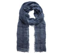 Schal, Used-Waschung, Fransen, Karo-Muster