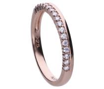 Filigraner Ring roségold mit weißen Zirkonia-Steinen 6121001082180
