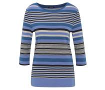 Blusenshirt, 3/4-Arm, Baumwolle, Streifen-Muster