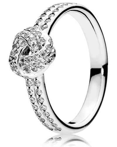 Ring, Liebesknoten, mit Zirkonia, 190997CZ