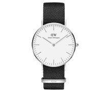 Classic Cornwall Armbanduhr 36mm S White DW00100260