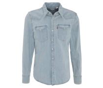 Jeans-Hemd, Brusttaschen, Druckknöpfe, Baumwolle