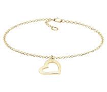 Armband Herz Heart Verliebt Liebe Elegant 375 Gelb