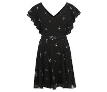 "Minikleid ""Pepita"", floraler Print, Schmetterlingsärmel"