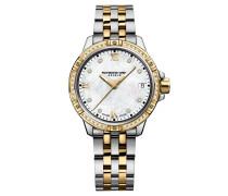 """Damenuhr """"Tango"""", zweifarbig, Diamanten und Perlmutt, RW 8160"""