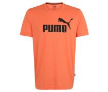 T-Shirt, meliert, Logo-Print, Rundhalsausschnitt