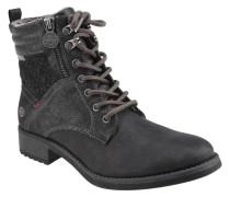 Boots, Blockabsatz, gefüttert, Reißverschluss, Label-Patch