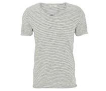 T-Shirt, Baumwolle, Rollsaum, Streifen