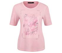 T-Shirt, Pailletten-Motiv, Strass, Oil-Washed-Optik
