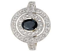 Ring 925 Sterling  mit Saphir und Topase