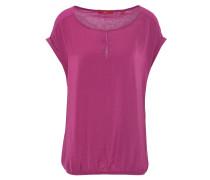 T-Shirt, uni, Gummibund, lockerer Schnitt