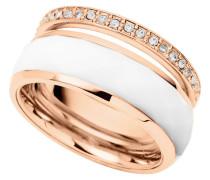 Damenring Edelstahl rosevergoldet mit Acryl JF01123791