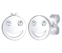 Ohrringe Smiley Face Emoji Swarovski® Kristalle 925