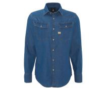 """Freizeithemd """"3301"""", Jeans-Optik, Baumwolle, Brusttaschen"""